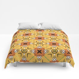 googly eyes pattern Comforters