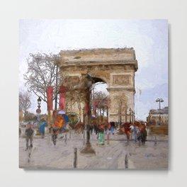 Arc de Triomphe Metal Print