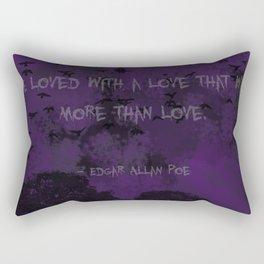 Edgar Allan Poe: Annabel Lee Rectangular Pillow