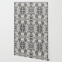Palm Leaves - Black & White Wallpaper