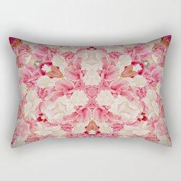 Pink and Cream Rectangular Pillow
