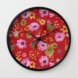 Aurora Larger Floral print Wall Clock
