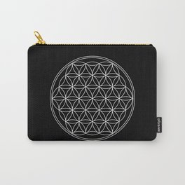 Flower of life on black Carry-All Pouch