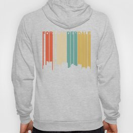 Retro 1970's Style Fort Lauderdale Florida Skyline Hoody