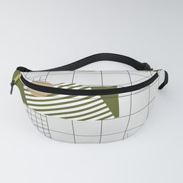 Checks Lines Grid Fanny Pack