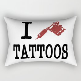 I love Tattoos Rectangular Pillow