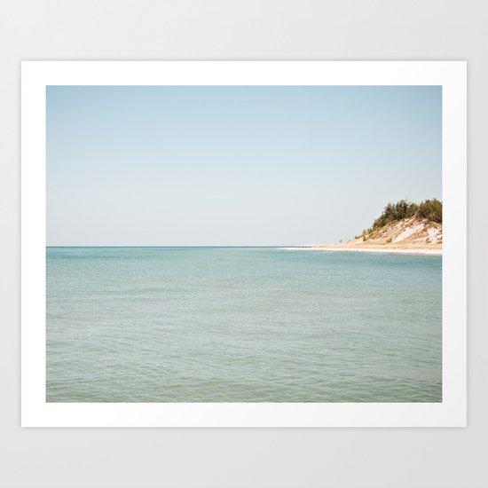 The Point Coastline Art Print