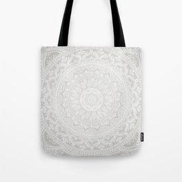 Mandala Soft Gray Tote Bag