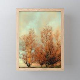 TREES AT SUNSET 3 Framed Mini Art Print