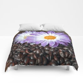 COFFEE with VIOLET DAISY Comforters