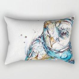 The Sea Glass Owl Rectangular Pillow