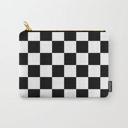 Black & White Checker Checkerboard Checkers Carry-All Pouch