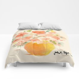 Gorgeous Poppies by artist John E. Comforters