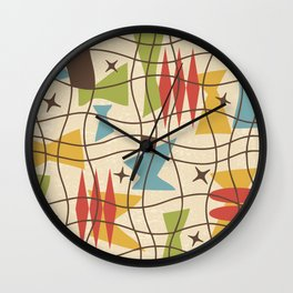 Mid Century Modern Abstract Pattern 571 Wall Clock
