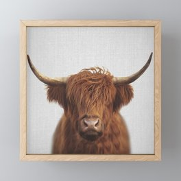 Highland Cow - Colorful Framed Mini Art Print