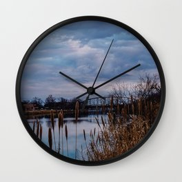 Cloudy Skies Wall Clock