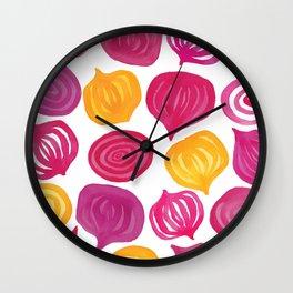 Spring Beet pattern Wall Clock