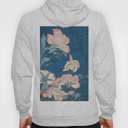 Katsushika Hokusai - Peonies and Canary, 1834 Hoody