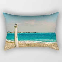 Seacoast of Cagnes-sur-Mer in a sunny winter day Rectangular Pillow