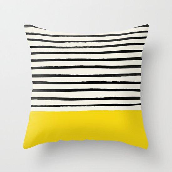 Sunshine x Stripes Throw Pillow