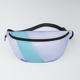 brush painting texture abstract background in blue Fanny Pack