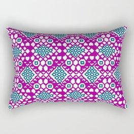 Purple Embroidery Rectangular Pillow