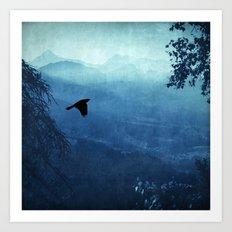 Blue Mountain Haze Art Print