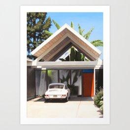 Eichler With Car Art Print