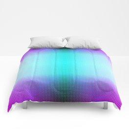 Purple Blue Black Ombre Hexagons Bi-lobe Contact binary Comforters