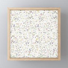 Classy vintage marble terrazzo pastel abstract design Framed Mini Art Print