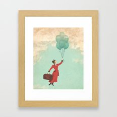 Mary, the secret behind the umbrella Framed Art Print