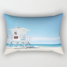 Lifeguard tower Carlsbad 35 Rectangular Pillow