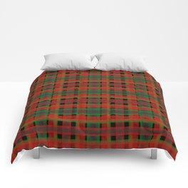 Red, green tartan plaid. Comforters