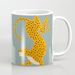 Leopard Race - blue Coffee Mug