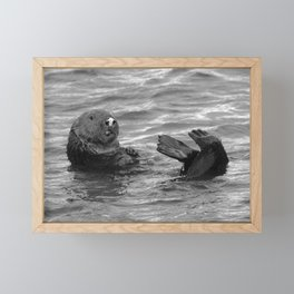 otter feet Framed Mini Art Print