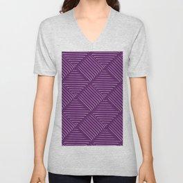 Diagonal Stripes Background 32 Unisex V-Neck