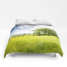 Idyllic Cotswold Summer Landscape Comforters