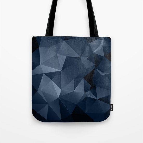 Black and blue polygonal pattern . Tote Bag