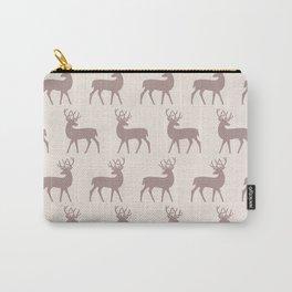 Mid Century Modern Deer Pattern Beige 3 Carry-All Pouch