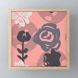 Abstract Leaves and Flowers I Framed Mini Art Print
