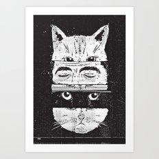 The cats Art Print