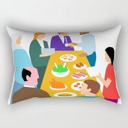 Diversity in Workplace Retro Rectangular Pillow