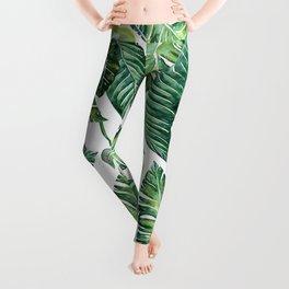 Jungle Leaves, Banana, Monstera #society6 Leggings