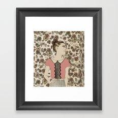Vintage Girl Framed Art Print