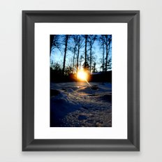 Snowset Framed Art Print
