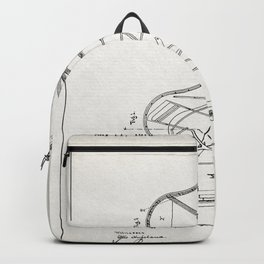 Grand Piano Patent - Antique White Backpack