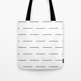 Block Print Lines in Black and White Tote Bag