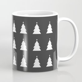 White Christmas Tree Gray Background Coffee Mug