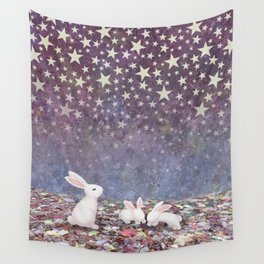 bunnies under the stars Wall Tapestry