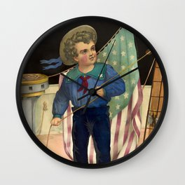 The pride of the ocean, 1874 Wall Clock